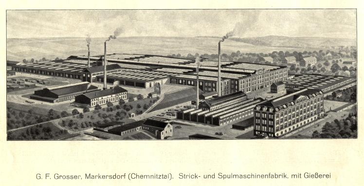 Fa. G.F. Großer; Strick- und Spulmaschinenfabrik, mit Gießerei