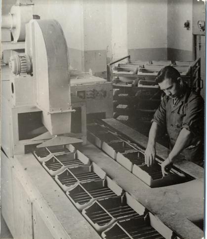 GROMA Horst Knorr an der Infrarottrockenanlage