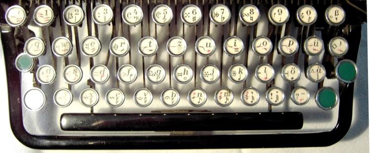 Tastatur Notenschreibmaschine