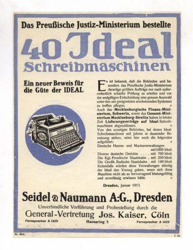 Werbung Ideal 1